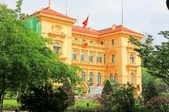 Presidentieel Paleis, Hanoi Vietnam stock fotografie