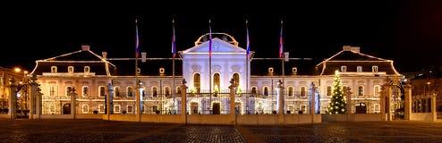 Presidentieel paleis (Paleis Grassalkovich) Royalty-vrije Stock Fotografie