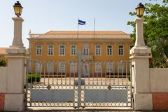 Presidentieel Paleis in Praia, Kaapverdië royalty-vrije stock afbeelding