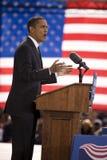 Presidentkandidat Barack Obama Royaltyfria Foton