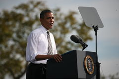 Presidentkandidat Barack Obama Arkivbilder