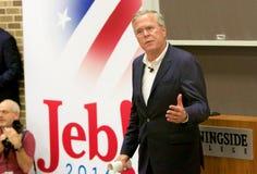Presidentkandidat Jeb Bush Arkivfoto