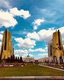 Presidentpalatset av den Kasakhstan presidenten arkivbild