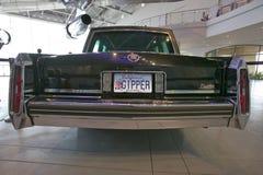 Presidents- bilkortege på skärm på Ronald Reagan Presidential Library och museet, Simi Valley, CA Royaltyfri Fotografi
