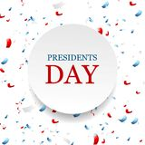Presidents Day abstract USA colors confetti background Stock Images