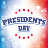 Presidents day. America banner and sign Stock Images