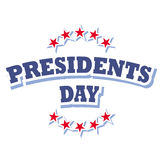 Presidents day. America banner and sign on white background Royalty Free Stock Photography