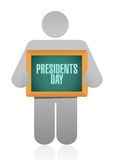 Presidents day avatar board sign illustration Stock Images
