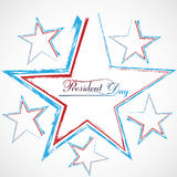 Presidents day background united states stars colorful Royalty Free Stock Images