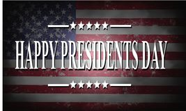 Presidents day background. With USA flag Royalty Free Stock Photography