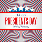 Presidents Day background. USA patriotic vector template with text, stripes and stars in colors of american flag. Stock Photos