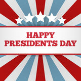 Presidents Day background. USA patriotic vector template with text, stripes and stars in colors of american flag. Stock Image