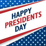 Presidents Day background. USA patriotic vector template with text, stripes and stars in colors of american flag. Stock Photography