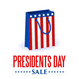 Presidents Day background. USA patriotic vector template with text, stripes and stars in colors of american flag. Royalty Free Stock Image