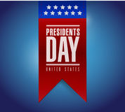 Presidents day banner illustration design Stock Images