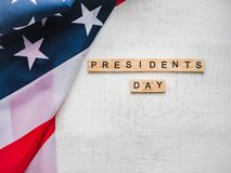 Presidents ` Day. Beautiful greeting card. Top view stock photo