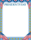 Presidents Day Border Royalty Free Stock Images
