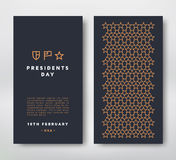 Presidents Day card Royalty Free Stock Photo