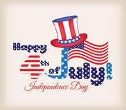 Presidents day design. 4th of July - Independence Day Stock Illustration