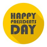 Presidents Day EPS 10 vector stock illustration icon with long shadow Stock Photography