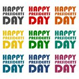 Presidents Day EPS 10 vector stock illustration icons set Royalty Free Stock Photography