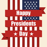 Presidents Day. Flag of USA with ribbon Royalty Free Stock Photo