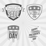 Presidents Day Labels Set on striped Background Royalty Free Stock Photography