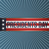 Presidents Day realistic vector patriotic Label Stock Image