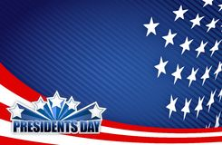 Presidents day red white and blue Royalty Free Stock Photo