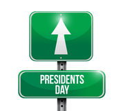 Presidents day road sign illustration design icon Royalty Free Stock Photography