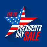 Presidents day sale banner Royalty Free Stock Image