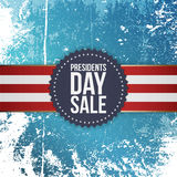 Presidents Day Sale blue Emblem with Ribbon Stock Images