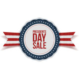 Presidents Day Sale discount Label with Ribbon Stock Photos