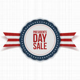 Presidents Day Sale national Banner with Text Royalty Free Stock Photo