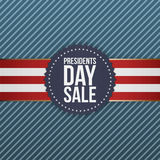 Presidents Day Sale realistic blue USA Emblem Stock Photo