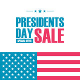 Presidents Day Sale special offer banner for business, promotion and advertising. Vector illustration Stock Image