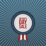 Presidents Day Sale USA vector Label with Ribbon Royalty Free Stock Images