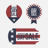 Presidents Day Sale vector design Elements Set Royalty Free Stock Images