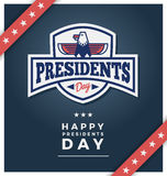 Presidents day sign on a dark blue blackground vector illustration
