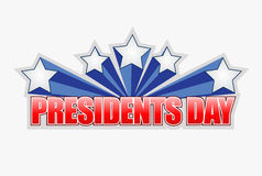 presidents day sign illustration design Stock Photography