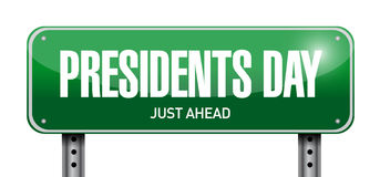 Presidents day street sign illustration design Royalty Free Stock Photography