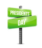 presidents day street sign illustration design Royalty Free Stock Image