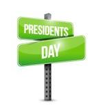 Presidents day street sign illustration design Royalty Free Stock Image