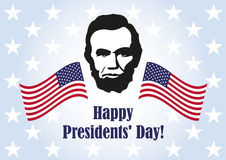 Presidents' Day in United States. Washington's Birthday. Federal holiday is held on the third Monday in February. Background with President Lincoln. Holiday Royalty Free Stock Photo