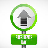 Presidents day up arrow road sign Royalty Free Stock Images