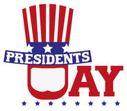 Presidents Day in USA. Patriotic symbols Royalty Free Stock Images