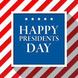 Presidents day vector background. Colors of american flag. USA patriotic template. Illustration with stripes and stars Stock Photography