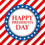 Presidents day vector background. Colors of american flag. USA patriotic template. Illustration with stripes and stars Royalty Free Stock Photography