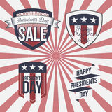 Presidents Day vector patriotic Labels Set Royalty Free Stock Photos