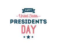 Presidents day vector typography. royalty free illustration